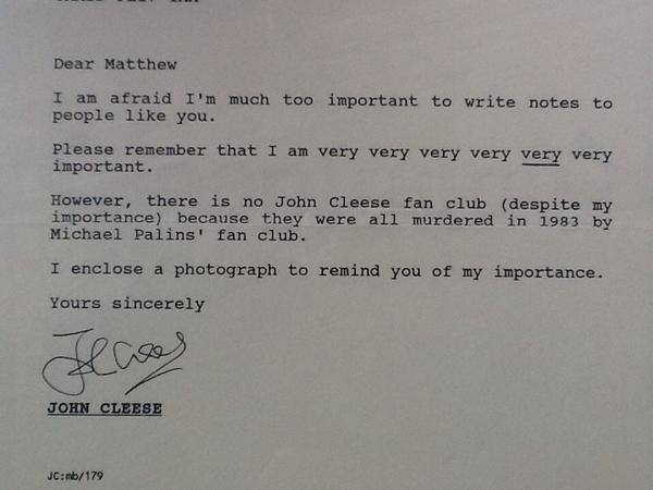 John Cleese How To Write A Letter
