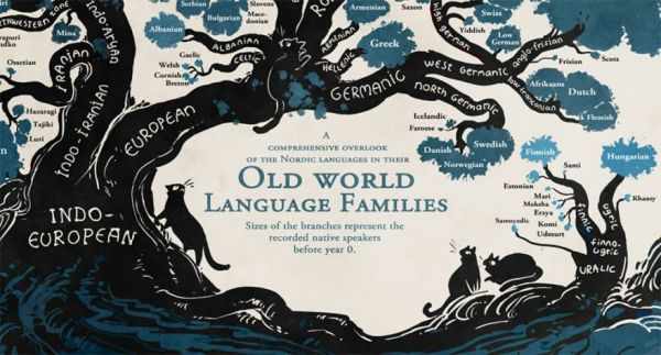 This Beautiful Infographic Illustrates The Tree Of Languages - World of languages infographic