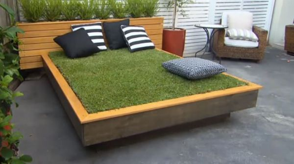 making a garden bed on grass 1