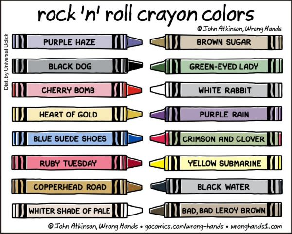 Rock 'n' Roll Crayon Colors