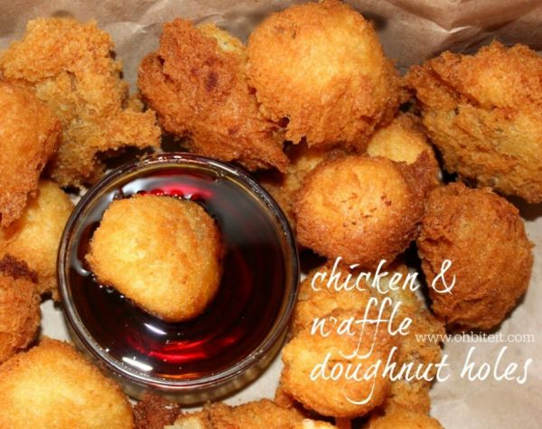 Chicken and Waffle Donut Holes