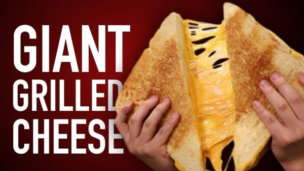 We're Not Worthy of This Giant Grilled Cheese Sandwich