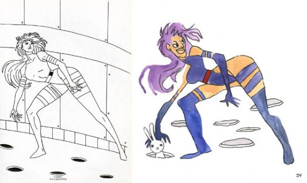 X-Mans - Art Inspired By A Horrible X-Men Coloring Book - Neatorama