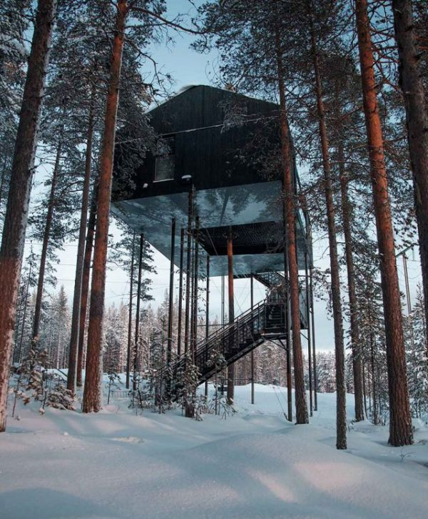 Isolated Treehouse Hotel Lets You Sleep Under The Northern Lights
