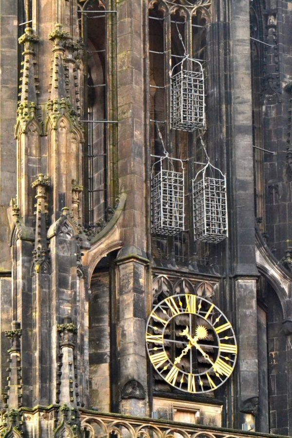 Why 3 Man-Sized Cages Hang From a Medieval German Church Steeple