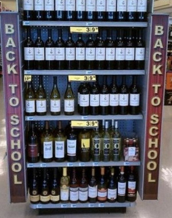 back to school liquor case