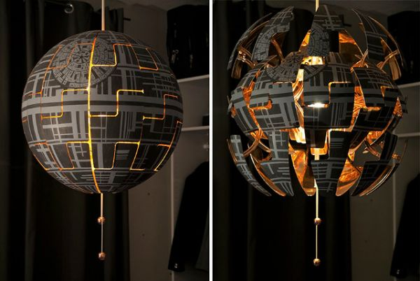 ikea lighting pendant. in this instance the death starrelated fun to be had your home involves modding an ikea pendant lamp with a really cool transforming feature look ikea lighting l