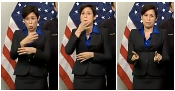 Why do sign language interpreters look so animated