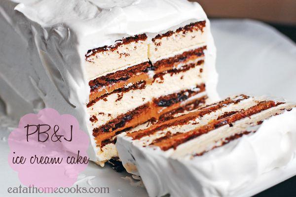 How to Make Peanut Butter and Jelly Ice Cream Cake - Neatorama