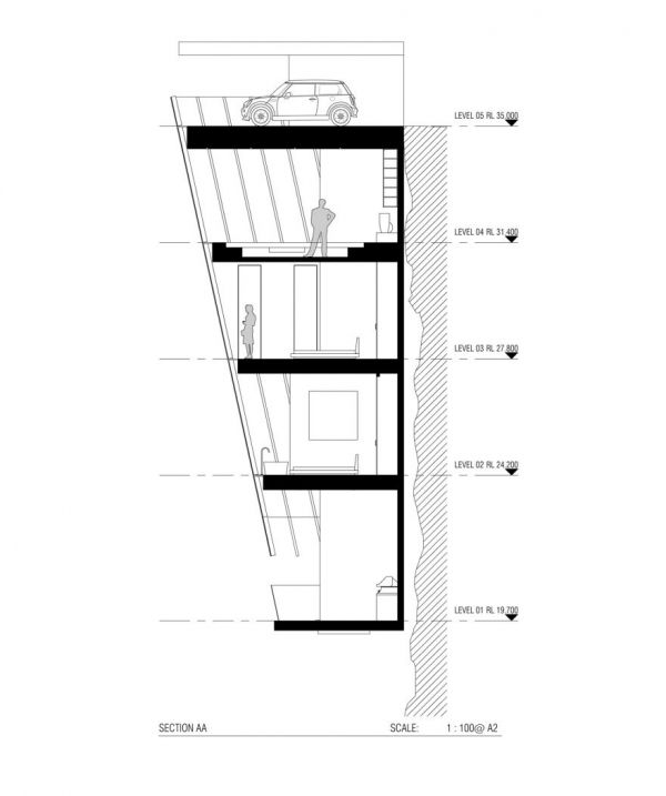 House Design Concept Hangs Off The Edge Of A Cliff