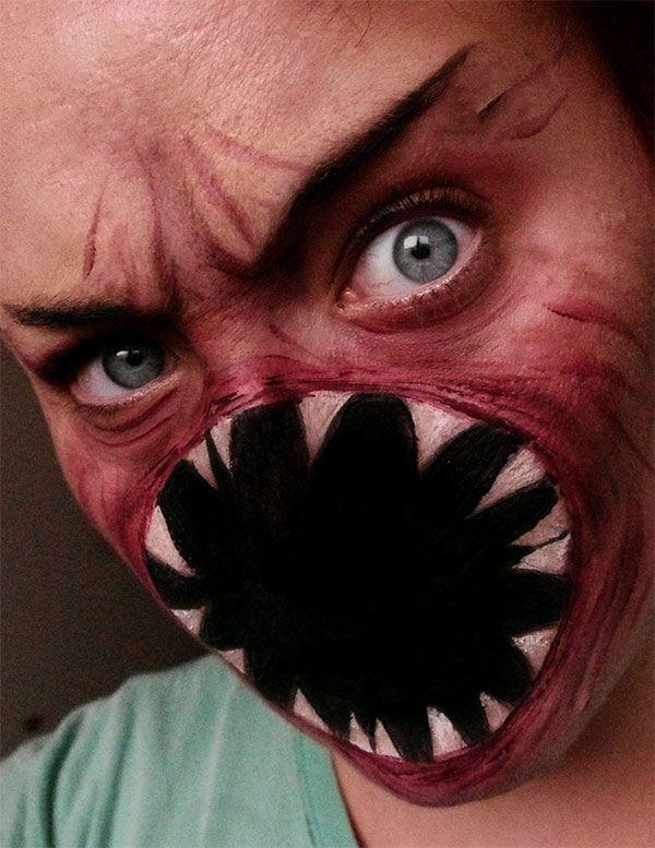 Cyborg Face Makeup Freaky Shark Face Makeup