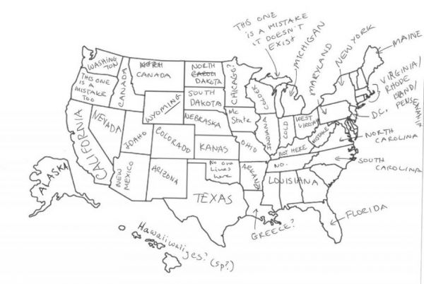 Brits Label US Maps Neatorama - Black white map of us with labels