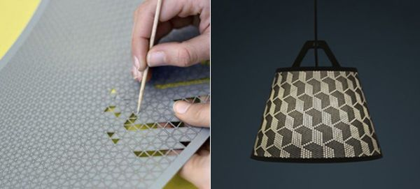 Punch out your own design on this diy lamp shade neatorama aloadofball Image collections