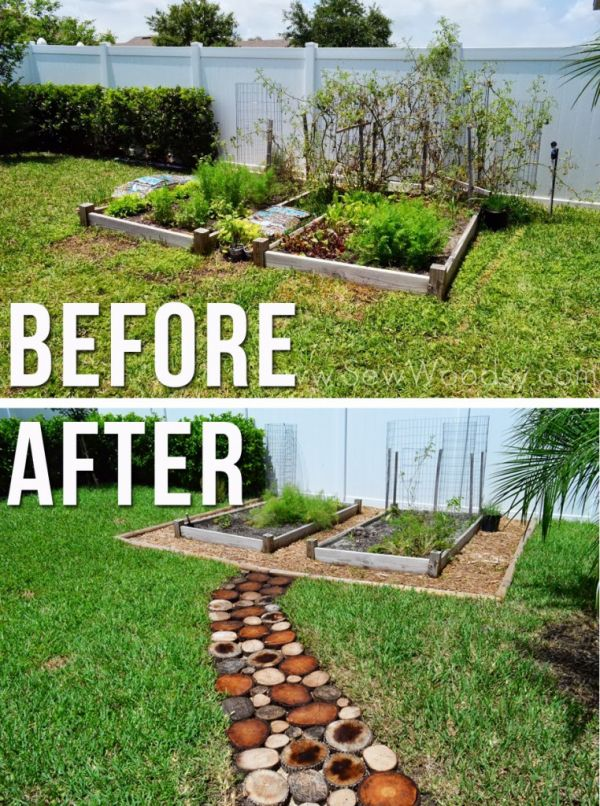 How To Make Your Own Wooden Pathway Neatorama