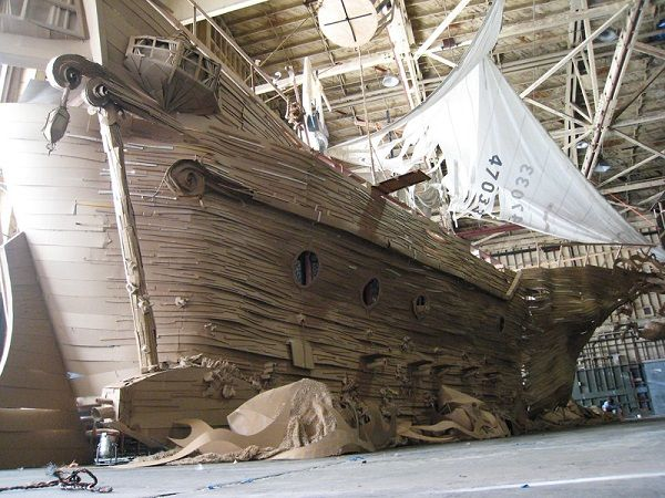Giant Model Ghost Ship Made Out Of Cardboard Neatorama