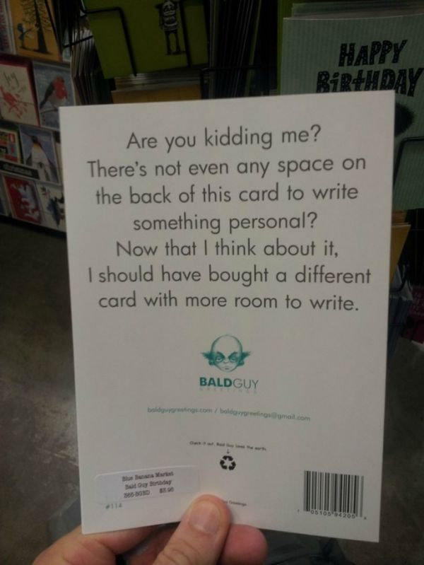 The Most Efficient Birthday Card Ever Neatorama – What Write in a Birthday Card