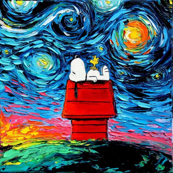 Pop Culture Characters in Van Gogh's Starry Night