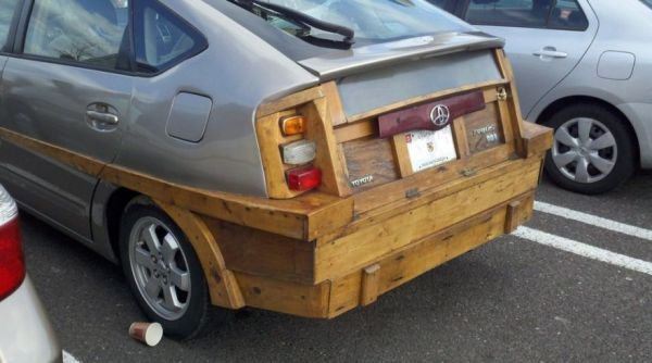 Toyota Prius With A Wooden Rear End Neatorama