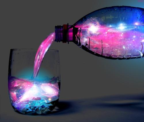Enjoy a sip of the galaxy -- learn how to make this glow-in-the-dark cocktail at Neatorama