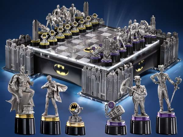 The Batman Chess Set Is A Whopping 795 00 But It Looks As Fun To Play With Would Be Just Look At Can You Imagine How Intense