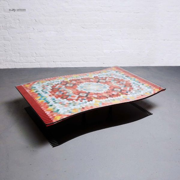 coffee table that looks like a flying carpet - neatorama