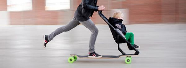 skateboard stroller neatorama