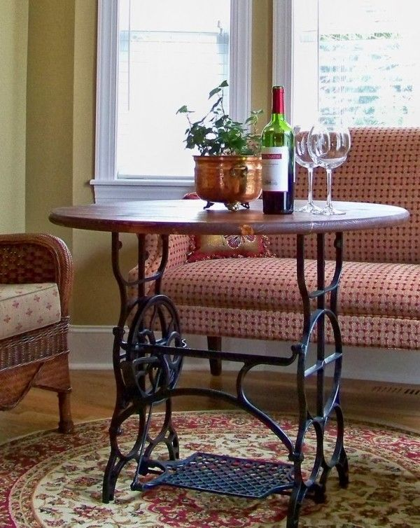 60 Ways to Upcycle Old Sewing Machine Tables - Neatorama