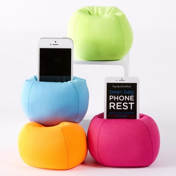 Bean Bag Phone Rest Neatorama