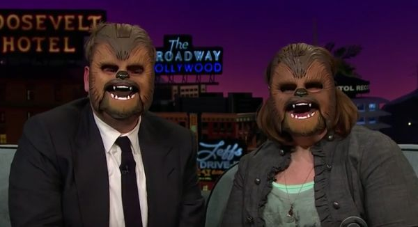 The Happy Chewbacca on TV