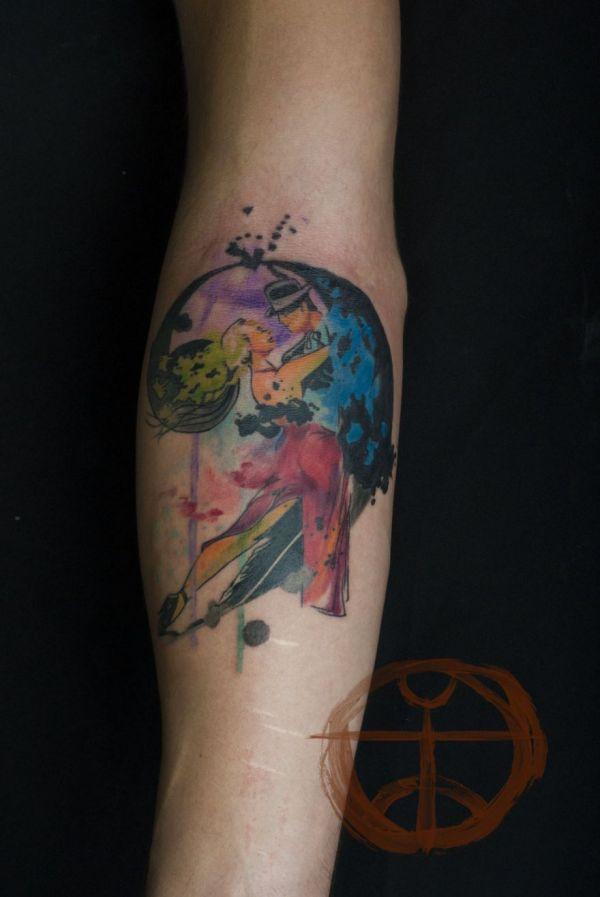 Koray karag zler 39 s beautiful watercolor tattoos neatorama for Tree of life watercolor tattoo
