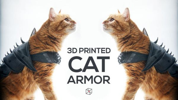 Protect Your Cat In Battle With This 3d Printed Cat Armor