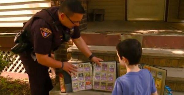 Cop Replace's Little Boy's Stolen Pokémon Collection with His Own