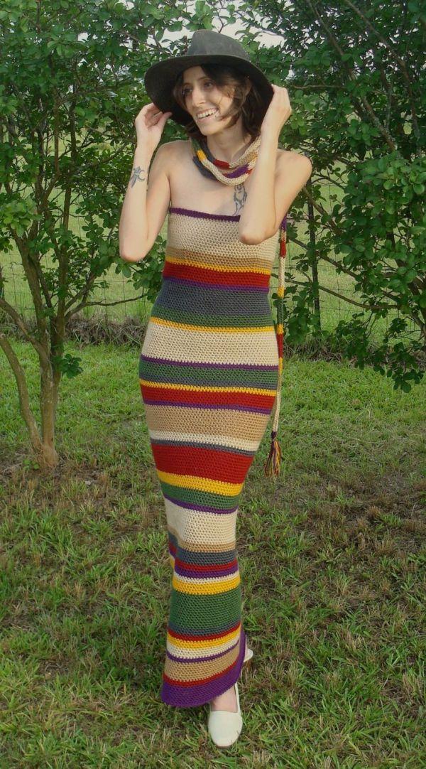 Fourth Doctor Scarf Dress - Neatorama