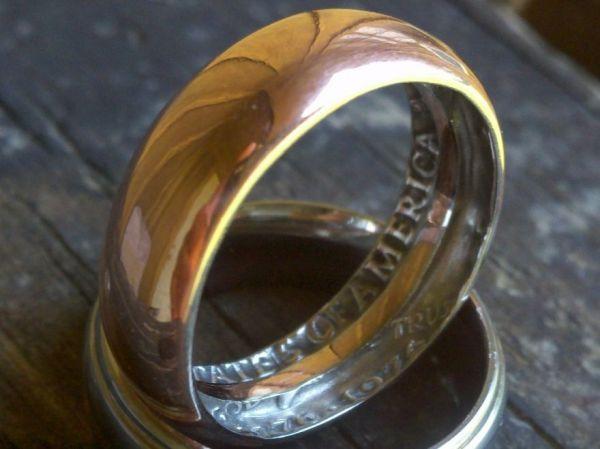 Как сделать кольцо из монеты в домашних условиях схема