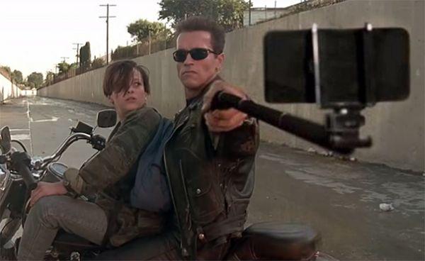 Replacing Guns With Selfie Sticks In Movie Stills