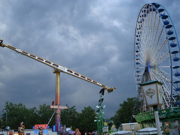 How Far Are You Flung When an Amusement Park Ride Goes Terribly