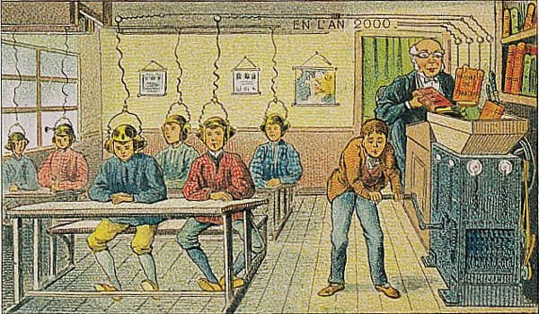 School in the year 2000, as imagined in 1910