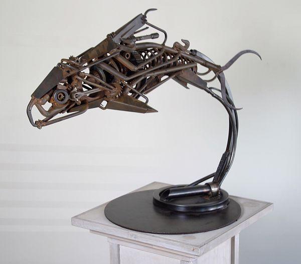 Nice Metal Menagerie Beasts Fish and Birds by Steel Pond Studios