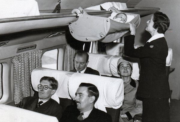this is how babies used to fly on airplanes   neatorama  rh   neatorama