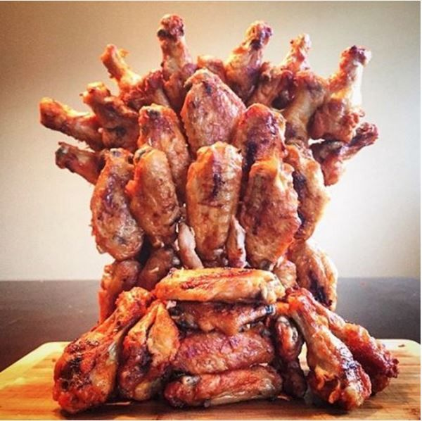 Iron Throne Made of Chicken Wings