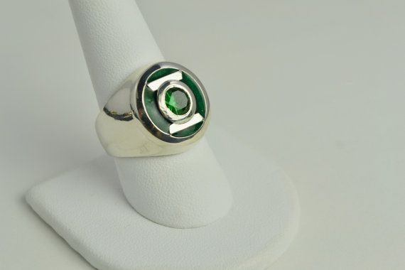 ari kathein a jeweler in pompano beach florida makes finely crafted jewelry inspired by superheroes im especially charmed by his oan power ring - Green Lantern Wedding Ring