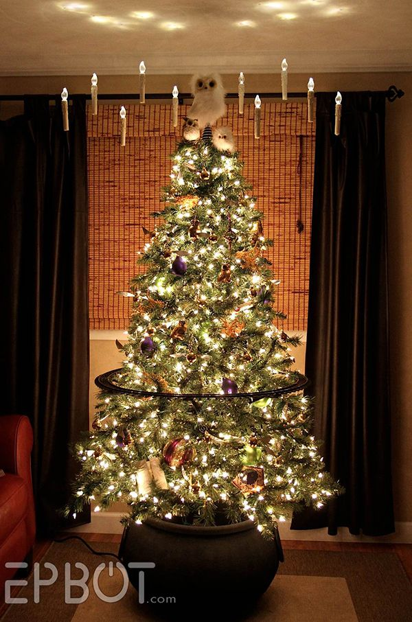A Magical Christmas Tree Inspired By Harry Potter Neatorama