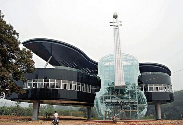 piano and violin building