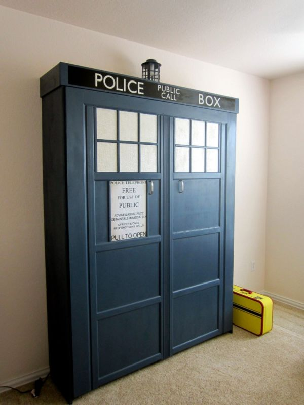 Homemade Tardis Murphy Bed Neatorama