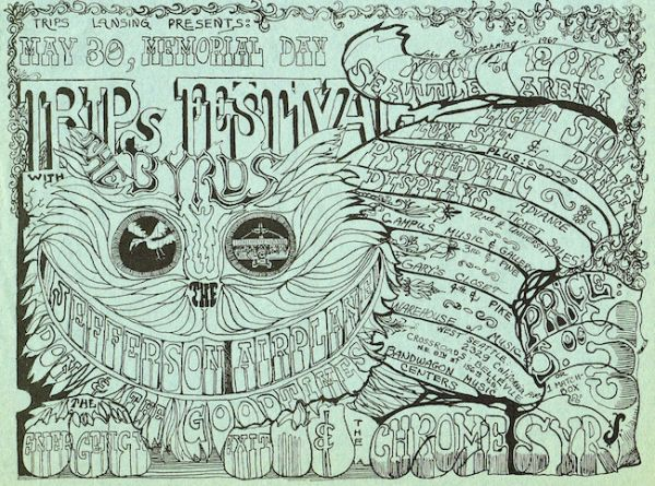 Famous Line Art : All night french fries with t rex: seattle's trippiest rock poster