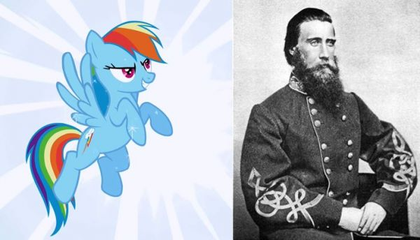 Rainbow Dash and John Bell Hood