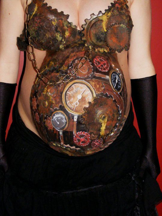 Pregnant Belly Paintings Neatorama