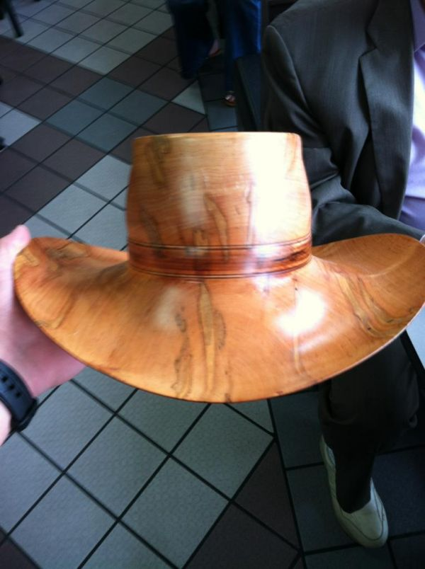 carved hat