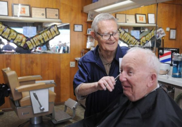 Even on His 99th Birthday, This Barber Is Still Cutting Hair
