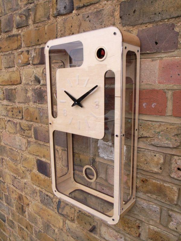 Sleek modernist cuckoo clocks neatorama - Contemporary cuckoo clock ...